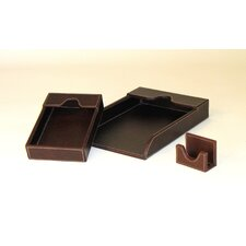 <strong>Wayborn</strong> Cigar Room Leather Covered Grand Tray