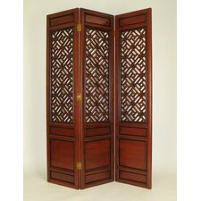 "<strong>Wayborn</strong> 76"" x 54"" Parlor Cross Hatch 3 Panel Room Divider"