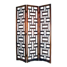 "<strong>Wayborn</strong> 78"" x 54"" Sri Lanka 3 Panel Room Divider"