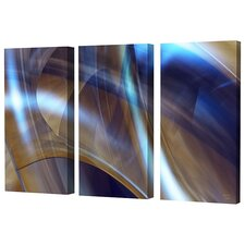 Triptych in Brown Limited Edition Canvas - Scott J. Menaul (Set of 3)