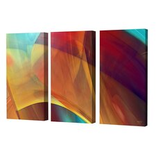 Joyful Canyon Triptych Limited Edition by Scott J. Menaul 3 Piece Framed Graphic Art Set (Set of 3)