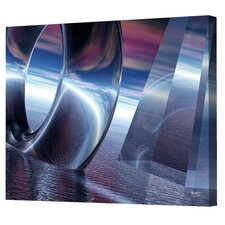 <strong>Menaul Fine Art</strong> Blue Torus/Pyramid Limited Edition Canvas - Scott J. Menaul