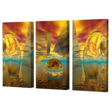 Sunset Triptych Limited Edition by Scott J. Menaul 3 Piece Framed Graphic Art Set (Set of 3)