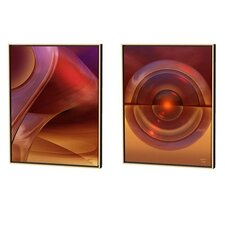 Caverns Conundrum Limited Edition by Scott J. Menaul 2 Piece Framed Graphic Art Set (Set of 2)