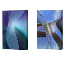 <strong>Menaul Fine Art</strong> Skyware and Sophie Blue Limited Edition Canvas - Scott J. Menaul (Set of 2)