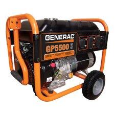Portable 5,500 Watt Gasoline Generator with Wheel Kit