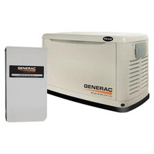 Guardian 14 Kw Air-Cooled Single Phase 120/240 V Natural Gas Propane Standby Generator with 200SE Switch in Steel Enclosure