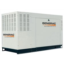 48 Kw Liquid-Cooled Three Phase 120/208 V Standby Generator with Catalytic Converter and CSA,  EPA Compliance in Aluminum
