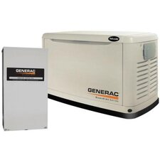 <strong>Generac</strong> 14 Kw Air-Cooled 120/140 V Standby Generator with 200SE Switch