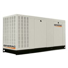 70 Kw Liquid-Cooled Three Phase 277/480 V Natural Gas Standby Generator with Catalytic Converter and CSA, EPA Compliance in Aluminum