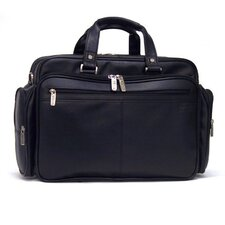 Business Cases Long Story Port Double Gusset Leather Laptop Briefcase