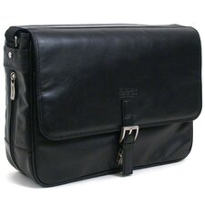"Manhattan Leather ""What A Bag!"" Laptop Messenger Bag"