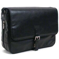 "Manhattan Leather ""What A Bag!"" Laptop Messenger Bag"