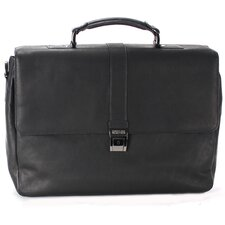 "Colombian Leather ""Flap-ped A Photo"" Briefcase"