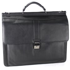 "Colombian Leather ""Rod Light Green Light"" Laptop Briefcase"
