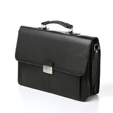"Manhattan Leather Portfolio ""Flap-py Gilmore"" Leather Briefcase"