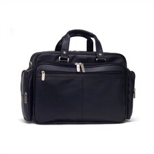 "Long Story Port - 5 - 7"" Double Gusset Expandable Portfolio/Laptop Case in Black"