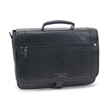 "Florencia Leather ""Flap-ple Martini"" Computer Case in Black"