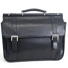 Manhattan Flal Leather Briefcase