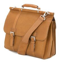 <strong>Kenneth Cole Reaction</strong> Mind Your Own Business Leather Laptop Briefcase