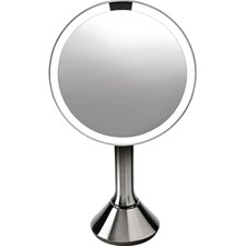 Sensor Activated Lighted Vanity Mirror, 5x Magnification, 8 inches