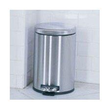 4.5 L / 1.2 Gal, Mini Round Step Trash Can
