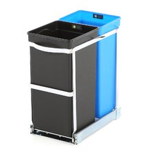 35 L / 9 Gal, Under Counter Pull Out Recycler Trash Can, Commercial Grade