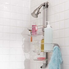 Adjustable Shower Caddy, Stainless Steel and Anodized Aluminum