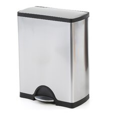 50 L / 13.2 Gal, Rectangular Step Trash Can, Stainless Steel