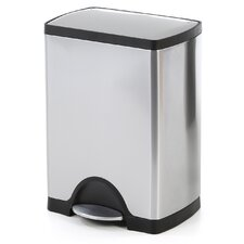 30 L / 8 Gal, Rectangular Step Trash Can, Stainless Steel