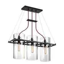 Square Ring 3 Light Kitchen Island Pendant
