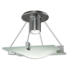 Handkerchief 1 Light Semi Flush Mount