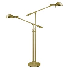 Dome Double Boom Arm Floor Lamp
