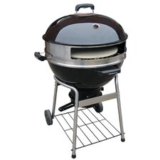 """29"""" Charcoal Pizza Kettle Grill with Bottom Shelf"""
