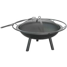 Halo 3 Piece Fire Pit Bowl with Ring & Poker Set