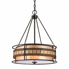 <strong>Elk Lighting</strong> Annondale 3 Light Drum Pendant