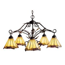<strong>Elk Lighting</strong> Grape Trellis 5 Light Chandelier