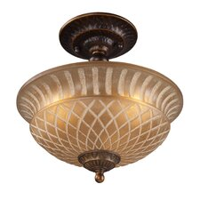 <strong>Elk Lighting</strong> Restoration 3 Light Semi-Flush Mount