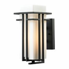 <strong>Elk Lighting</strong> Croftwell 1 Light Outdoor Wall Sconce