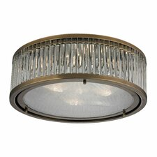 <strong>Elk Lighting</strong> Linden 3 Light Flush Mount