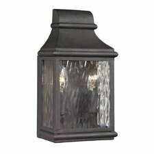<strong>Elk Lighting</strong> Forged Jefferson 2 Light Outdoor Wall Sconce