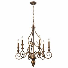 <strong>Elk Lighting</strong> Hamilton 6 Light Candle Chandelier