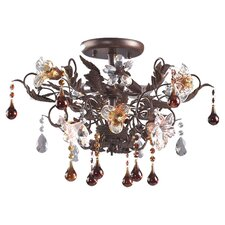 <strong>Elk Lighting</strong> Cristallo Fiore Semi Flush Mount