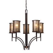 Barringer 5 Light Chandelier and Shade