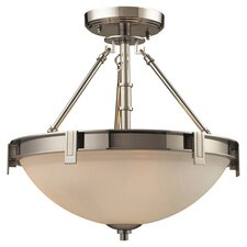 <strong>Elk Lighting</strong> Trump Home Central Park Tribeca Semi Flush Mount