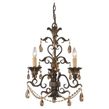 Trump Home Rochelle 3 Light Mini Candle Chandelier