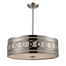 <strong>Elk Lighting</strong> Zarah 5 Light Drum Pendant