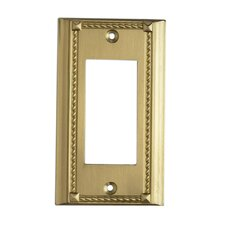 Clickplates Switch Large Plate in Brass