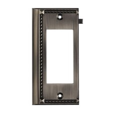 Clickplates Large End Switch Plate in Antique Platinum