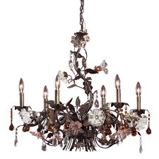 Cristallo Fiore Candle 6 Light Chandelier